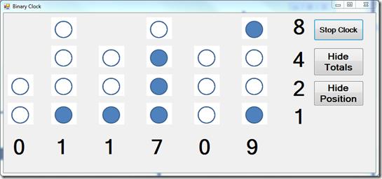how to read binary clock