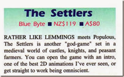 The Settlers Amiga Down