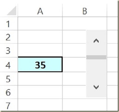 Form Controls in Excel - Final Scroll Bar