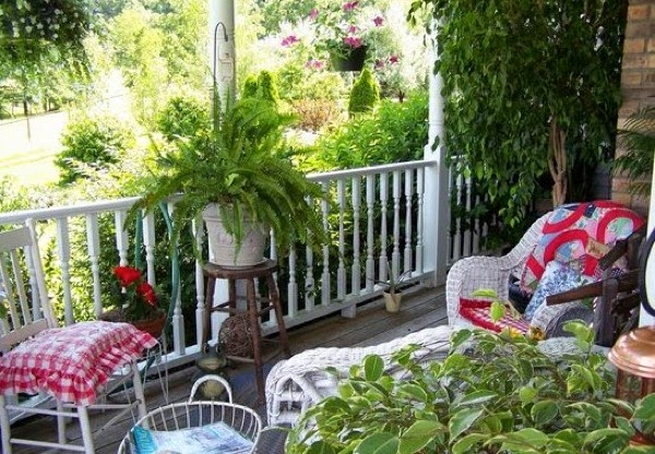 Country porch in summer