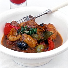 Spanish Braised Pork with Potatoes and Olives