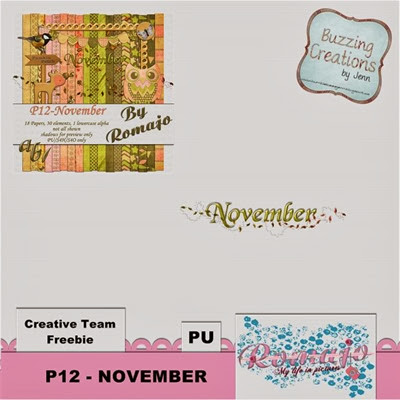 Romajo - P12 November - Cluster Freebie Preview