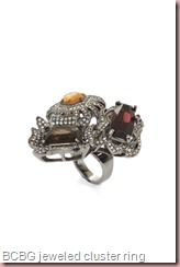 BCBG JEWELED CLUSTER RING
