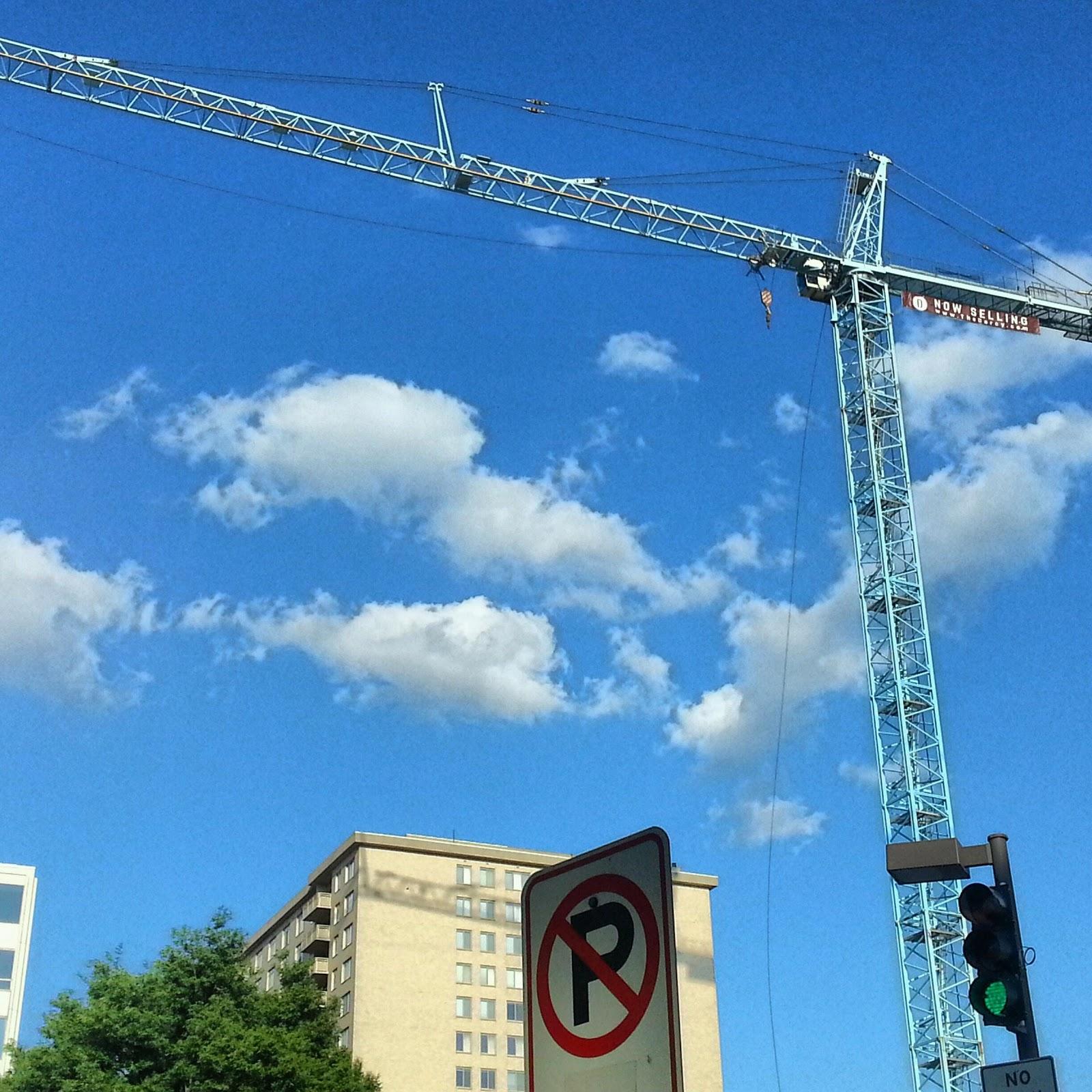 Tower Crane Signals : Robert dyer bethesda row new tower crane assembled at