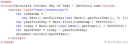 DevCurry: JavaScript: Find Day of Year