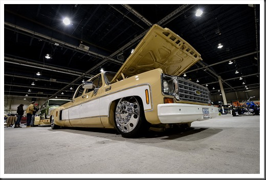The Martin's 1975 Chevrolet Dually at Motorama