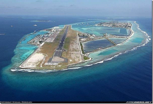 馬爾戴夫機場,蔗作機場完全建造在人工島上.