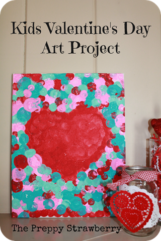 DIY Kids Valentines Day Art {The Preppy Strawberry}