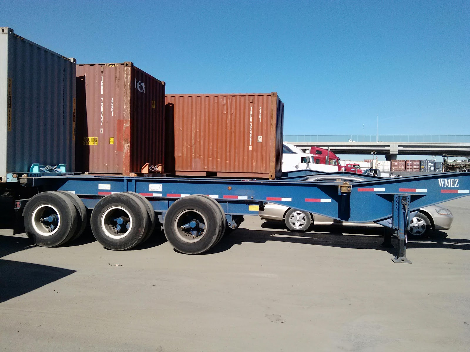 Tri Axle Chassis : Container chassis parts tri axle