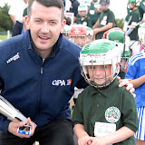2/7/2012 ECHO SPORT - Donal Og Cusack pictured with Luke Jordan at the start of Camp Ciaran GAA Camp at the Shamrocks GAA Club recently (Pic Howard Crowdy)