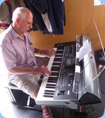 John Perkin improvising on the Korg Pa3X.
