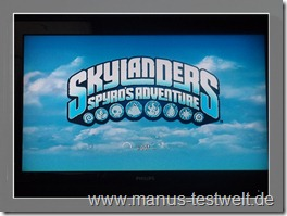 Skylanders Start Bildschirm