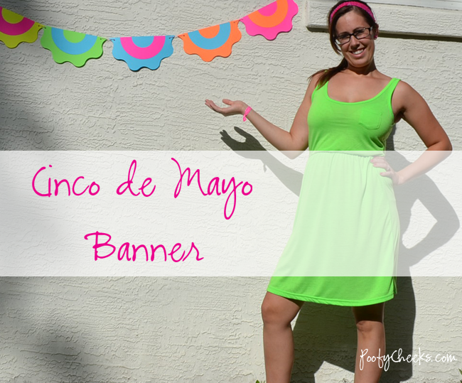 Cinco de Mayo Banner with silhouette files