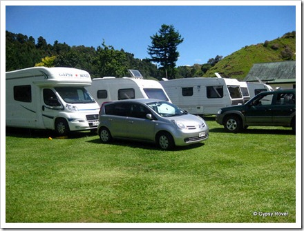 Whangamomona camp.