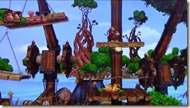Donkey Kong Country Tropical Freeze, Donkey e Diddy na plataforma