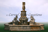 Large Classical Pedestal Statue Fountain with 3-Graces Finial an