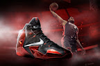 nike lebron 11 gr black red 0 01 New Photos // Nike LeBron XI Miami Heat (616175 001)