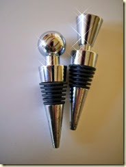 chrome wine stoppers