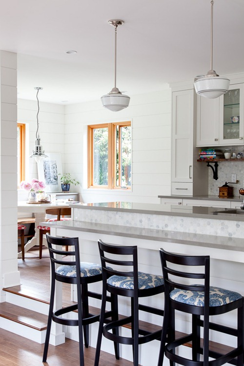 planked wall kitchen
