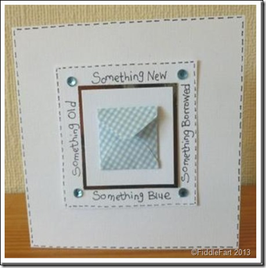 Old New Borrowed and Blue Silver Sixpence Card