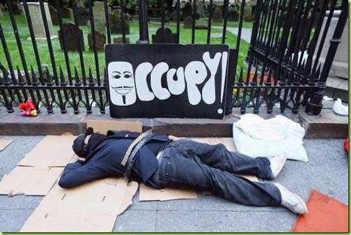 occupy empty pizza boxes