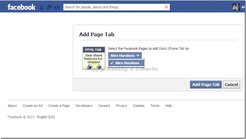 5 Custom FB app tabs install woobox add page tab select page