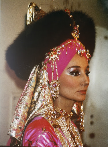 Vicomtesse Jacqueline de Ribes at the Oriental Ball.