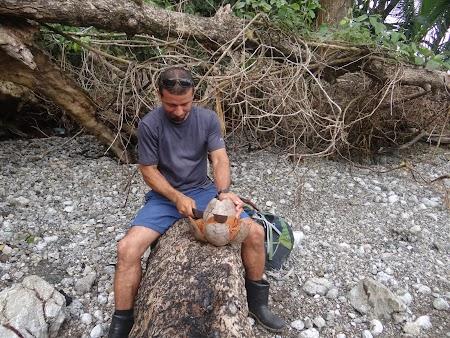 27. Curatand o nuca de cocos.JPG