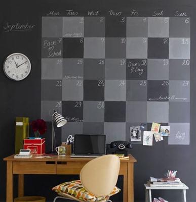 chalkboard wall calander
