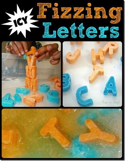 Fizzing Alphabet Letters #preschool #alphabet