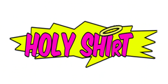 Holy shirt full logo, white background