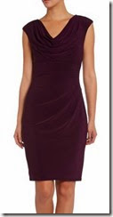 Lauren Ralph Lauren Burgundy Jersey Cowl Neck Dress