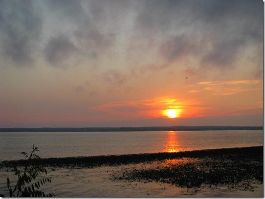 захід сонця у витачеві