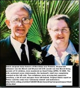 VAN DEN BOSCH couple murdered on dairy farm