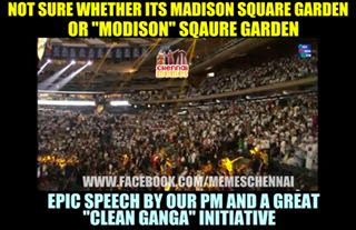 Narendra Modi In America Madison Square Garden Funny Indian Politics Memes Funny Indian