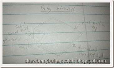 baby blanket sketch