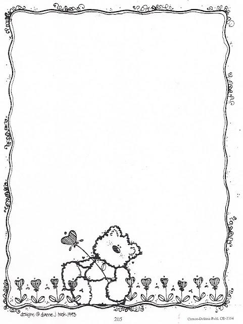 Bordes infantiles en blanco y negro para pintar - Marcos de fotos para pintar ...