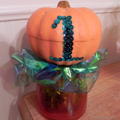 dollar store pumpkin bling