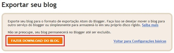 Fazer download do blog