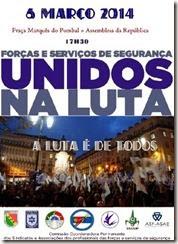 Polícias contra o governo de Passos Coelho. Mar. 2014