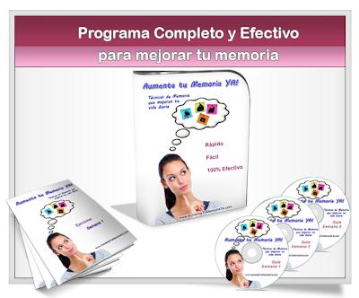 Aumenta tu memoria ya curso programa completo y for Efectivo ya sucursales