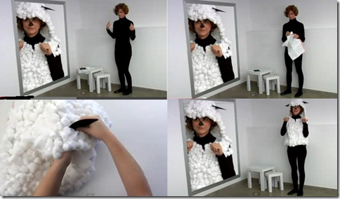 disfraz de oveja bolsa de basura