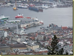 Hurtigruten Quay from Mountain