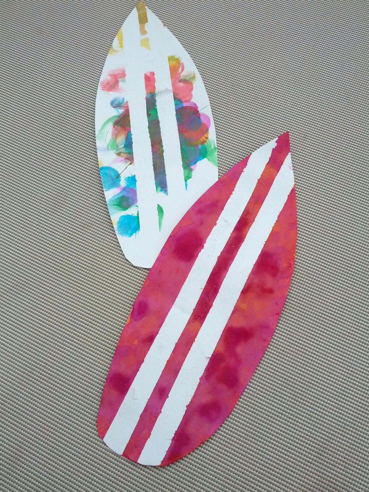 tape resist surfboard craft and next comes l