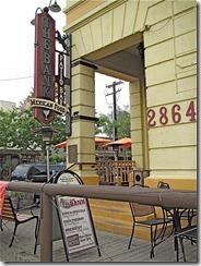 Bank restaurant exterior