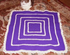 5 purple white halloween blanket