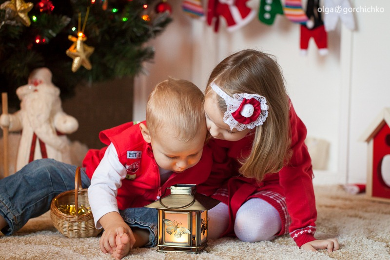 Детский новогодний фотопроект Рождественские мечты. 17. Глеб и Вероника-9753
