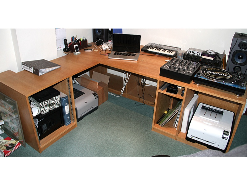 Studio Desk Furniture For Home Or Pro Recording Studio Computer Rack Workstation Ebay
