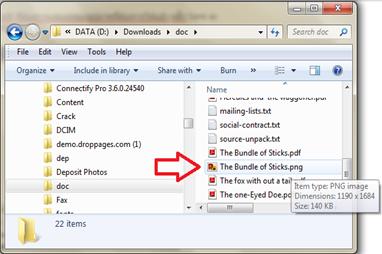 ภาพสำเร็จหลังการแปลงเอกสาดร pdf เป็นรูปภาพ