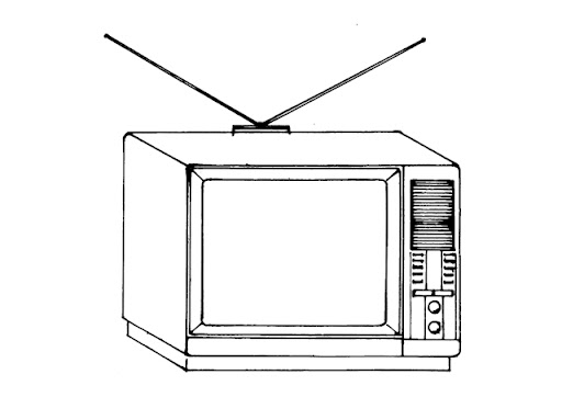 Del televisor para colorear - Imagui